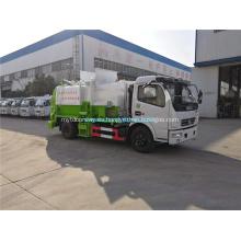 Camión de basura de compresión tipo barril colgante Dongfeng 4x2