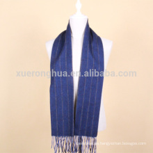 bufanda de lana de rayas azules para hombres