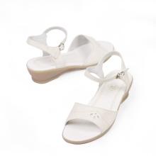 Comfort leather wedge flat heel sandals 2014
