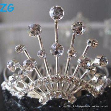 Elegante pentes franceses de cristais, pentes de cabelo de casamento de fantasia, pentes de cabelo stylee cristal