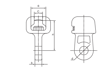 Socket-clevis Eye Power Fitting