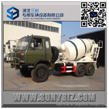 DFAC CUMMINS Motor 2 Cbm off Straße Transit Mixer Truck