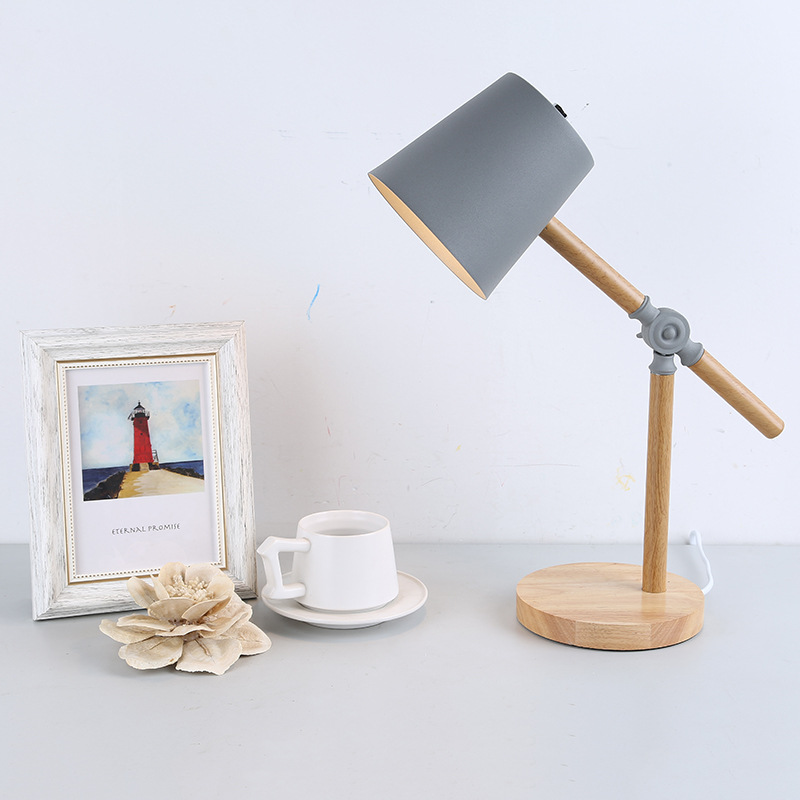 Gray Wooden Table Lamps