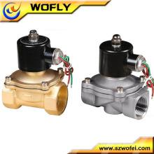 1/8 ~ 2 polegadas de latão / aço inoxidável material normal aberto / normal válvula de solenóide de água 12v / 24v / 110v / 220v / 230v / 240v