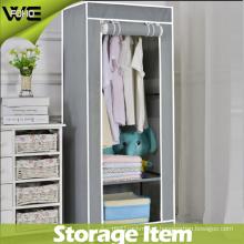 Easy Clean Bedroom Folding Portable Canvas Simple Wardrobe