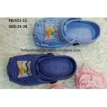 Chinelo estilo casual eva obstruções sapatos de jardim para crianças (fbj521-11)