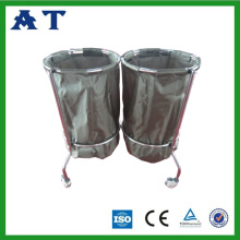 Nylon waste bin with two bags for hospital