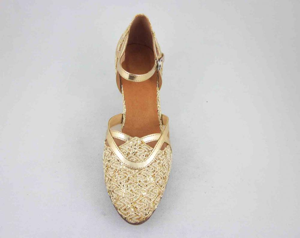 Gold Ladies Dance Shoes USA