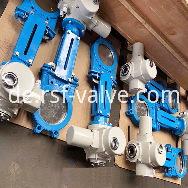 Electric Actuator Knife Gate Valve