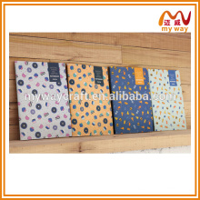 Japanese flower stitching notebook about school notebook cover designs