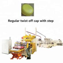 Tampão giratório regular automático com fabricação de degraus, linha de produção, fabricação de tampas de garrafa de alumínio
