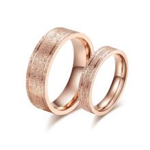 New design finger ring, korean sandblasting rose gold wedding ring