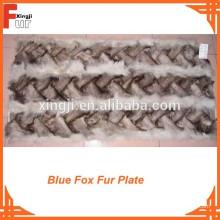 Placa de piel de zorro azul chino