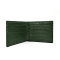 Anpassad logotyp Toppkvalitet Crocodile Leather Wallet