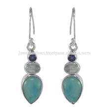 Linda Larimar e multi gemstone 925 Sterling Silver Earring Jewelry