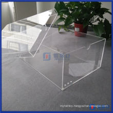 Wholesale Clear Aantique Acrylic Shoe Box with Lid