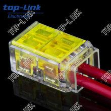 Conector de Iluminação de 2 Condutores para Conexão Rápida de Fios