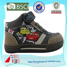 high ankle china boys sport shoes with cartoon