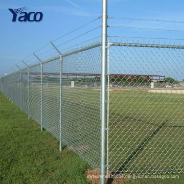 Fabrik galvanisierte Kettenglied-Zaun 8ft hoch für Baseball-Felder