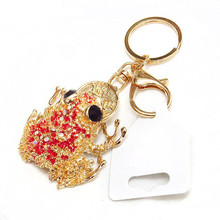 best selling products 3D souvenir metal custom frog keychain gift wholesale