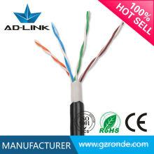 Bare cobre UTP / FTP / SFTP impermeável cabos de rede cat5e exterior