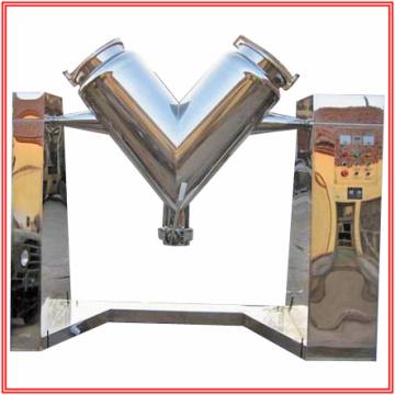 Misturador em forma de V para dois materiais em pó