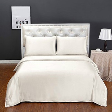 3Pcs Luxury 100% Silk Comforter Cover and Pillowcases