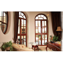 Natural Larch Wood Double Tempered Glass Solid Wood Window