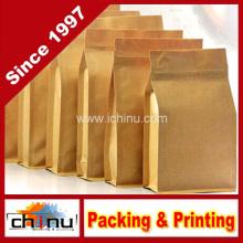 Quadratische Boden Kraftpapier Tasche (220115)