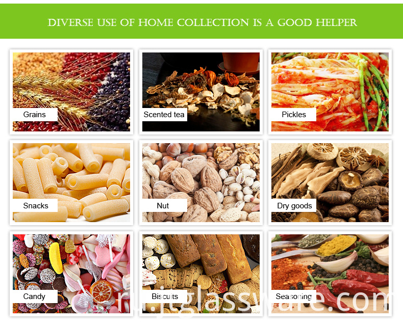 Food for JIATENG Glass Jar