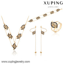 64017 Xuping wholesale african gold plated women jewelry sets
