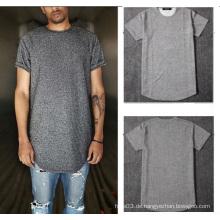 Grau-T-Shirt Kurzes Sleevs-Männer beiläufig