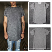 Grey Plain T Shirt Short Sleevs Men Casual
