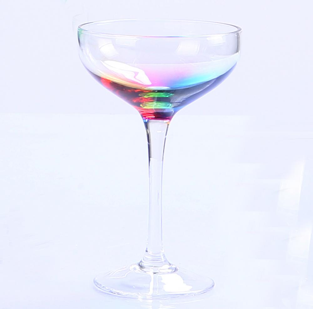 Br 9128 4rainbow Color Coupe Champagne Glasses