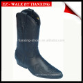 Riding boots with Embroideried leather upper