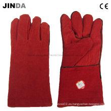 Guantes de trabajo industriales de soldadura de cuero (L013)