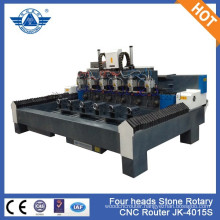 Heavy duty design JK-4015S stone wood engraving 6 heads 6 axis cnc router