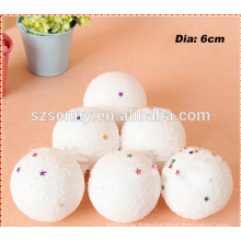 Small cat toy foam balls styrofoam christmas balls