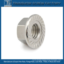 Ss304 Stainless Steel Serrated Flange Lock Nut