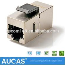 cat6 FTP RJ45 modular adapter 180 degree jack plug / cat5e shielded one-way keystone module