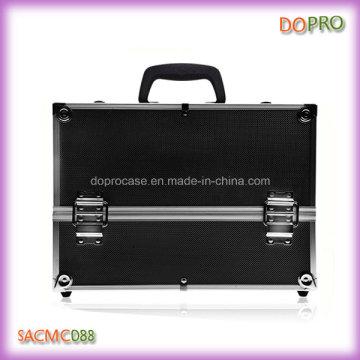 Preto ABS superfície beleza caso grande profissional cosméticos mala (sakc088)