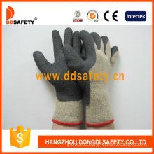 Hot-Selling Cotton Gloves Coated Black Foam Latex (DKL419)