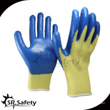SRSAFETY 10 калибр Cut Resistant Nitrile Рабочая перчатка / нитрил, покрытые ладонной перчаткой