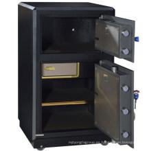 Gabinete de caja fuerte de dos puertas resistentes al agua de dos puertas del banco seguro grande de SteelArt