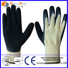 10G algodão / poliéster Borrachas de borracha natural revestidas de borracha e luvas de látex