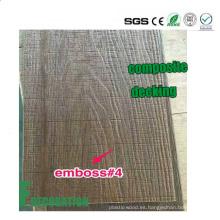 Degradado de madera al aire libre de la coextrusión al aire libre de madera del piso de WPC compuesto de madera
