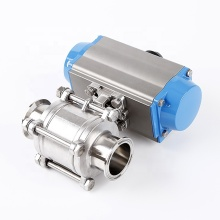 Stainless Steel 3 PCS Pneumatic Actuator Ball Valve