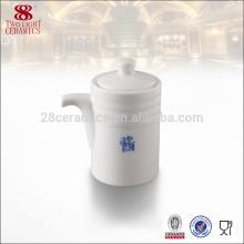 Accessoires de vaisselle de haute qualité, pot de gravier blanc en céramique