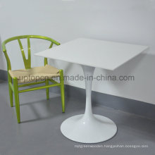 Simple Style Square White Restaurant Table and Green Chair (SP-CT750)