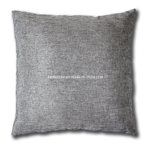 Metallic Silver 50X50cm Linen Coussin avec Zip Invisible (A21002)